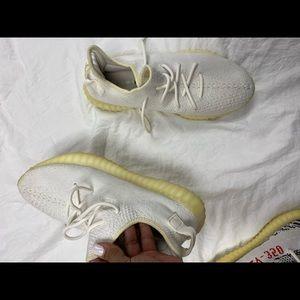 White yeezy size 10